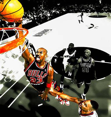 Patrick Ewing Digital Art - Air Jordan Rises by Brian Reaves
