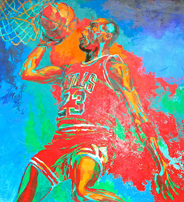 Mj Painting - Air Jordan by Steven Mockus