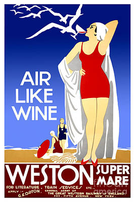 Wine Art Drawing - Air Like Wine by Jon Neidert