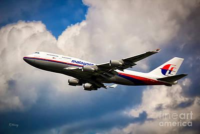 Malaysia Airlines B-747-400 Art Print