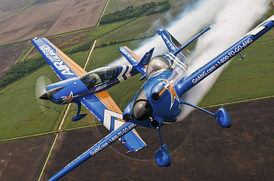 Flight Formation Photograph - Air National Guard Aerobatics by Adam Romanowicz