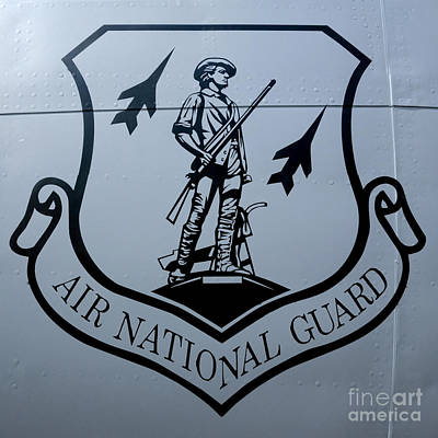 Air National Guard Shield Print by Olivier Le Queinec