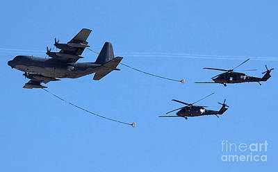 C-130 Wall Art - Photograph - Air Refueling - U S A F by David Bearden