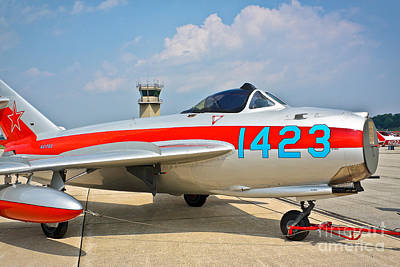Photograph - Air Show Mig-17 by John Waclo