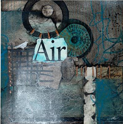 On Paper Mixed Media - Air Sign  by Laura  Lein-Svencner