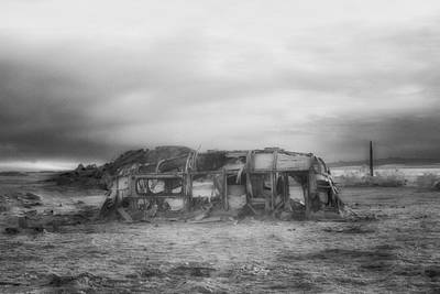 Abandoned Photograph - Air Stream Cannibalized by Hugh Smith