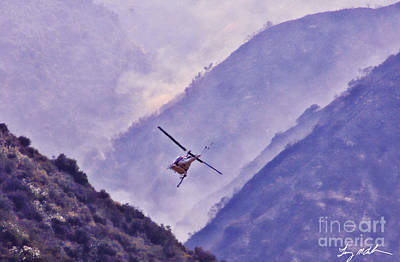 Fireground Photograph - Air Support Drop by Tommy Anderson