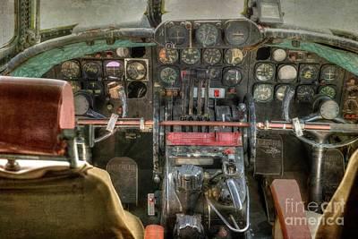 Photograph - Air - The Cockpit - Lockheed Ec-121t by Liane Wright