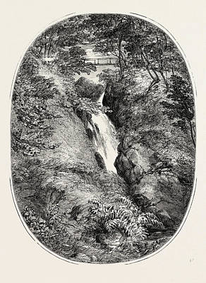 Aira Force Wall Art - Drawing - Aira Force, Lake District by English School