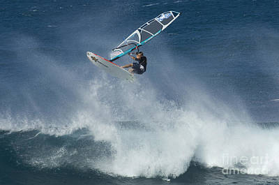 Laird Hamilton Photograph - Airborn In Hawaii by Bob Christopher