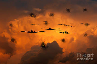 Infantry Digital Art - Airborne Invasion  by J Biggadike