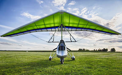 Power Photograph - Airborne Xt-912 Microlight Trike by Adam Romanowicz