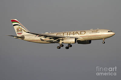 Airbus 330-200 Of Etihad Airways Art Print by Luca Nicolotti