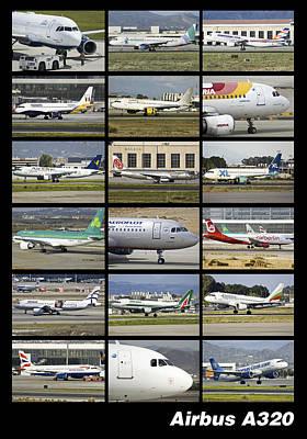 Airbus A320 Collage Original by Salva Reyes