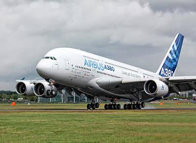 Airbus A380 Landing Art Print