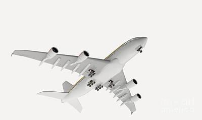 Passenger Plane Photograph - Airbus Flying by Nikid Design Ltd / Dorling Kindersley