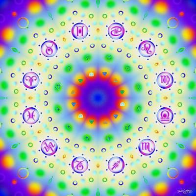 Digital Art - Airchemical Zodiac by Derek Gedney
