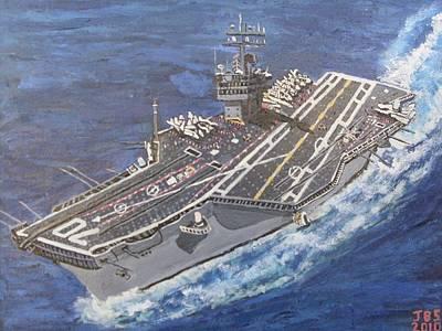 Aircraft Carrier Cvn-70 Carl Vinson Art Print by Jose Bernal