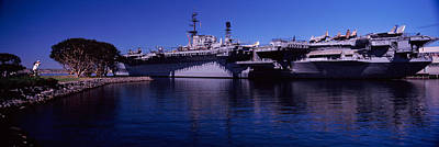 Aircraft Carriers At A Museum, San Art Print by Panoramic Images
