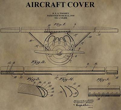Aviator Mixed Media - Aircraft Cover Patent by Dan Sproul