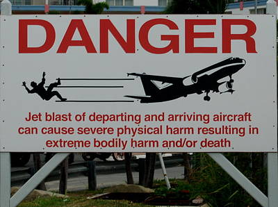 Photograph - Aircraft Danger by Caroline Stella