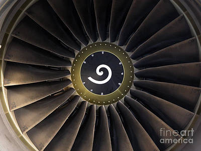 Photograph - Aircraft Engine by Tim Holt