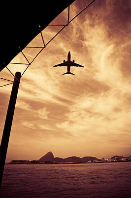 Photograph - Aircraft Flying Over Sea by Celso Diniz