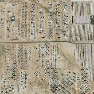 Earth Based Photograph - Aircraft Graveyard, Usa by Geoeye