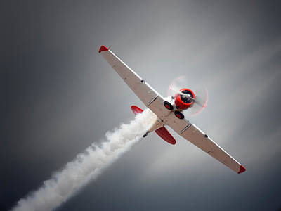 Harvard Wall Art - Photograph - Aircraft In Flight by Johan Swanepoel