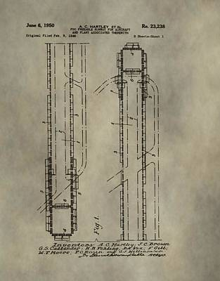 Jet Mixed Media - Aircraft Runway Patent by Dan Sproul