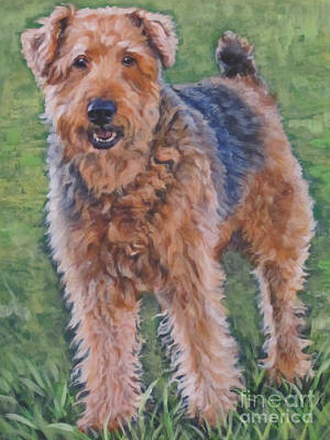 Painting - Airedale Terrier by Lee Ann Shepard