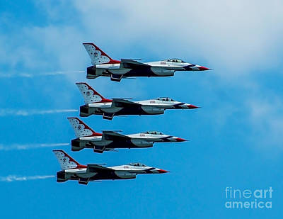 Photograph - Air Force Thunderbirds by Nick Zelinsky