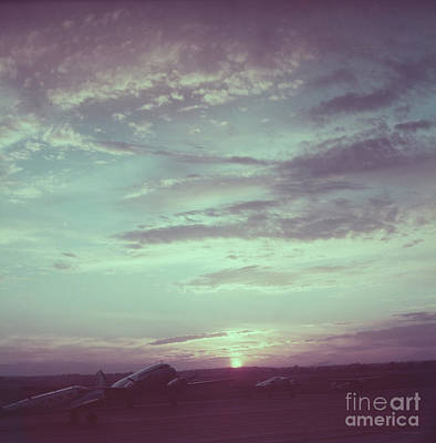 Airfield At Sunset Art Print