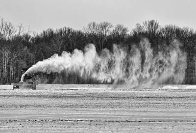 Snow Removal Photograph - Airfield Snow Blower  by Thomas Young