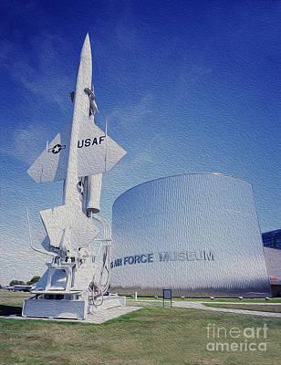 Air Force Mixed Media - Airforce Museum by Jon Neidert