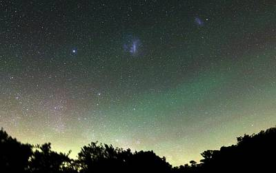 Airglow And Magellanic Clouds Art Print