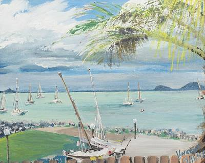 Shark Painting - Airlie Beach  Australia by Vincent Alexander Booth
