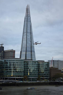 Photograph - Airlift Helicopter Shard by David French