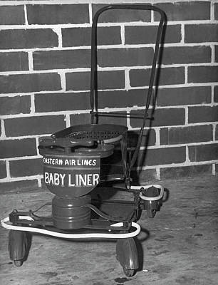 Airline Baby Stroller Art Print