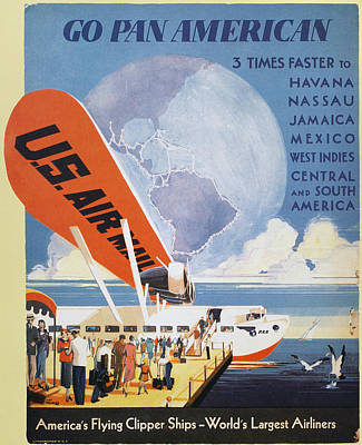 Photograph - Airline Poster, 1933 by Granger