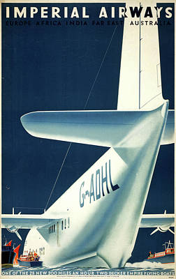 Airways Painting - Airline Poster, 1936 by Granger
