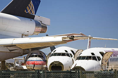 Photograph - Airliner Junkyard by Jim West