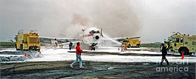 Photograph - Airplane Crash Drill Landscape by Jim Fitzpatrick