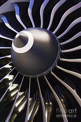 Aircraft Engine Component Photograph - Airplane Engine by Mark Williamson