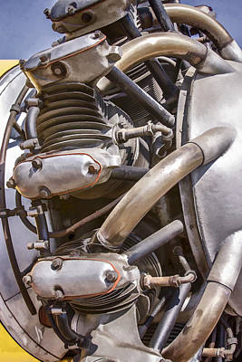 Digital Art - Airplane Engine by Photographic Art by Russel Ray Photos