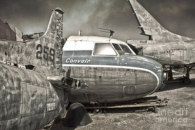 Photograph - Airplane Graveyard - 02 by Gregory Dyer