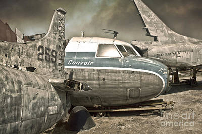 Painting - Airplane Graveyard by Gregory Dyer