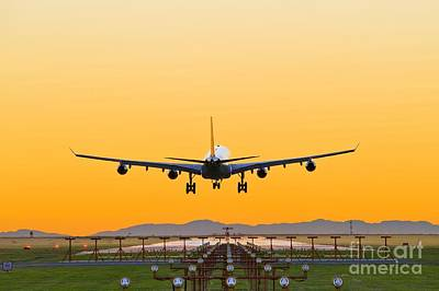 Passenger Plane Photograph - Airplane Landing, Canada by David Nunuk