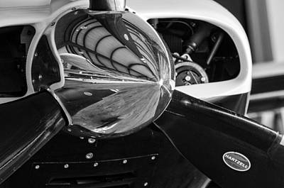 Photograph - Airplane Nose Cone In Black And White by Andy Crawford