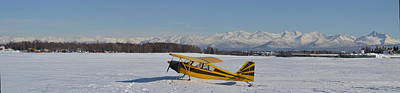 Airplane On Ice Art Print